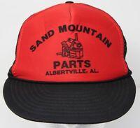 NWOT Vintage Sand Mountain Parts Albertville, Alabama Trucker Hat Red Black Cap