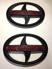 Set of Black Red Scion FR-S Badge Emblem For Toyota 86 2013 ~ 2016