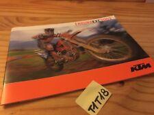 KTM 2003 enduro EXC 125 200 250 300 450 525 moto prospectus catalogue brochure