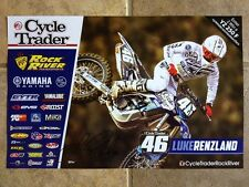 LUKE RENZLAND*SIGNED*AUTOGRAPHED*POSTER*YAMAHA*CYCLE TRADER*ROCK RIVER*COA*PROOF