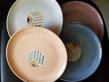 Vtg Artisan 4 pc Melamine Dinnerware Set Salad Plates