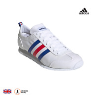 Mens Adidas VS JOG Trainers. FX0094. White - Red - Royal Blue. Running Shoes.