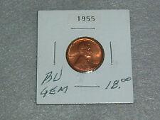 """1955 WHEAT PENNY BU """"GEM"""" CONDITION"""