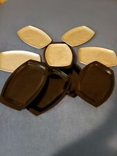 5 Nordic Ware Heatable Steak Fish Or Anything Platters With Holders Nice!!