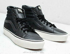 Vans Unisex UA Sk8 Hi Platform 2.0 Size 9 Leather Sneakers Snake Black