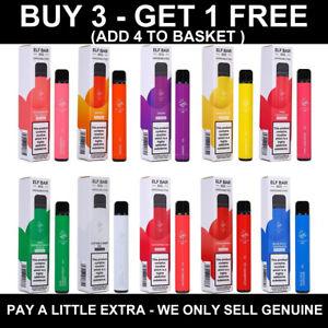 ELF BAR Disposable 600 puff Vape Pen Kit 20mg nic salt Buy 3 Get 1 Free GENUINE