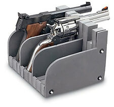 3 Gun Safe Pistol Rack Handgun Storage Holder Organize Display Stand Safety Case