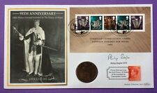 1.3.2006 Welsh Assembly FDC Prince Edward-Signed PHILIP ZIEGLER-Edward V111 Coin