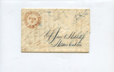 1841 Cortlandville NY cancel stamp-less cover, letter to Homer