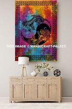 Indian Wall Hanging Hippie Tapestry Tie Dye Mandala Yin Yang Dragon Print Throw