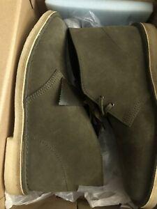 Men's Clarks Original Desert Boots Dark Olive Suede 261 47292