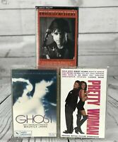 Soundtrack Ghost/Pretty Woman/Eddie and The Cruisers Vintage Cassette Tape x 3