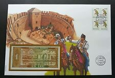 Moldova Woodpecker 1994 Bird Building Heritage Horse FDC (banknote cover) *Rare