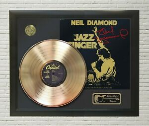 Neil Diamond Framed wood Reproduction Signature LP Record Display.