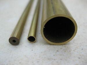 Brass tube tubes pipe for modelling in 60 metric sizes, 1-18mm diam, 330mm long