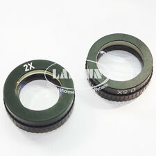0.5X & 2.0X Barlow Objective Auxiliary Lens For Microscope Camera C-MOUNT 40.5mm