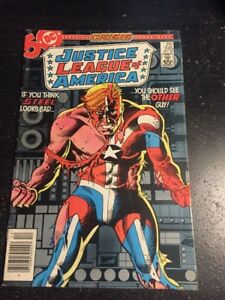"""Justice League America#245 Awesome Condition 6.0(1985) """"Crisis"""" Cross-over!!"""