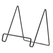 Iron Cookbook Display Stand Wrought Picture Frame Holder Home Decor B-Black L