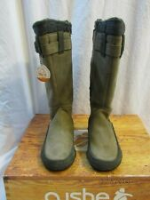 CUSHE Womans Gray Leather Waterproof Thermal Lining Boots Size 6 NIB