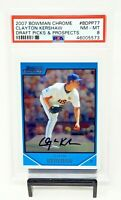 2007 Bowman Chrome Dodgers Ace CLAYTON KERSHAW Rookie Baseball Card PSA 8 NM-MT