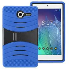 Alcatel One Touch POP 7 LTE/9015W Hybird Armor Rugged Hard Box Case Cover BLUE
