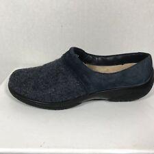 Hotter slip on shoes Women sz 5 Furry inside Wool blue upper cushioned Devotion