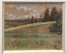Dessin Original Pastel Paysage Arbre Ciel Alphonse Ruy (1853-1920) XIXe