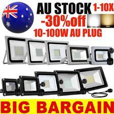 With AU Plug LED Flood Light 100W 50W 30W 20W 10W Floodlight Lights Lamp 240V
