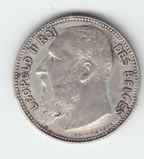 Leopold II 1 franc 1909fr  zonder punt