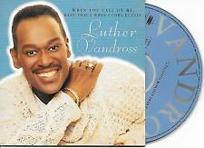 LUTHER VANDROSS - When you call on me CD SINGLE 2TR EU CARDSLEEVE 1997 RARE!