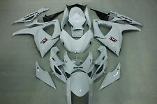 Aftermarkert ABS fairings for suzuki GSXR600 750 06-07 2006 2007 Gloss white col