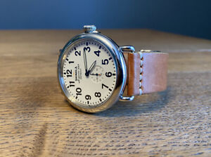 Shinola Runwell 47mm White Dial Horween Leather First production year DETROIT