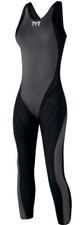 TYR Women's Black Swim Suit 28L A7 Tracer Triathlon Full Body Zip USA Made New