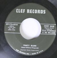 Jazz 45 Count Basie - Party Blues / April In Paris On Clef Records