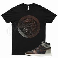 Black MEDUSA T Shirt for Jordan 1 Patina Light Army Sail Fresh Mint Bronze