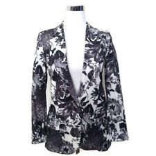 STELLA MCCARTNEY Jacket 36 Frazier Black White Floral Print Blazer Career $1,695
