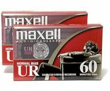 Maxell UR60 2-Pack Normal Bias Audiocassettes 109024
