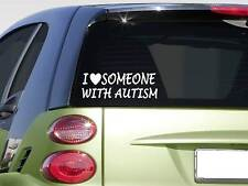 """I love someone with Autism sticker *H373* 8"""" awareness speaks autistic"""
