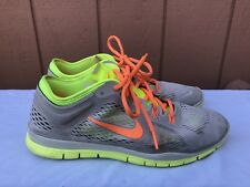 EUC Nike Womens Free 5.0 TR Fit 4 US 10 Grey/Atomic Orange/Volt 629496 003 A2