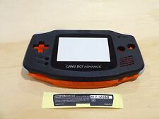 GBA Nintendo Game Boy Advance Replacement Housing Shell Lens Black Clear Orange