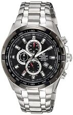 Casio Men's Stainless Steel Edifice Black Dial Tachymeter EF-539D-1AVDF