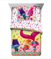 DreamWorks Trolls Reversible Twin/Full Bed Comforter & Matching Twin Sheet Set