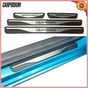 Chrome Mini Countryman Door Sill Scratch Guard Stainless Steel