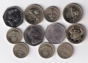 Großbritannien 3 x 2 Pounds, 5 x 1 Pound und 3 x 50 Pence nsw-leipzig