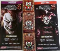 2015 UNIVERSAL HALLOWEEN HORROR NIGHT RED SILVER BLACK JACK CLOWN PIN + GUIDES
