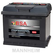 Autobatterie 52Ah 12V 520A/EN ersetzt Batterie 40Ah 44Ah 45Ah 46Ah 50Ah 53Ah KFZ