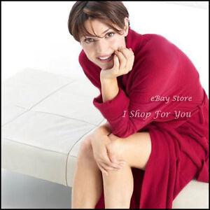 ARLOTTA 100% CASHMERE BATH ROBE RED or TAN NWT $463 Sweater Knit S M L XL