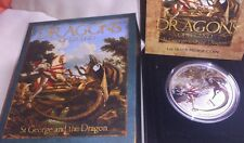 1 dólar. TUVALU 2012 st GEORGE.AND. The Dragons.  Dragons of legend
