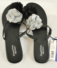 WOMEN'S SIMPLY VERA BLACK AND GRAY SANDALS SIZE 5-6 MSRP $26 COMFORTABLE