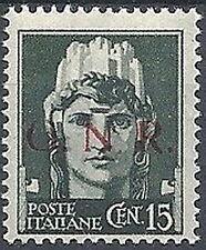 1944 RSI GNR BRESCIA I TIPO I TIRATURA 15 CENT VARIETà MNH ** - RSI180-5